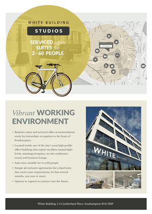 White Building Studios Brochure Cover